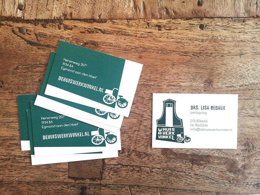 De Huiswerkwinkel - visitekaartjes
