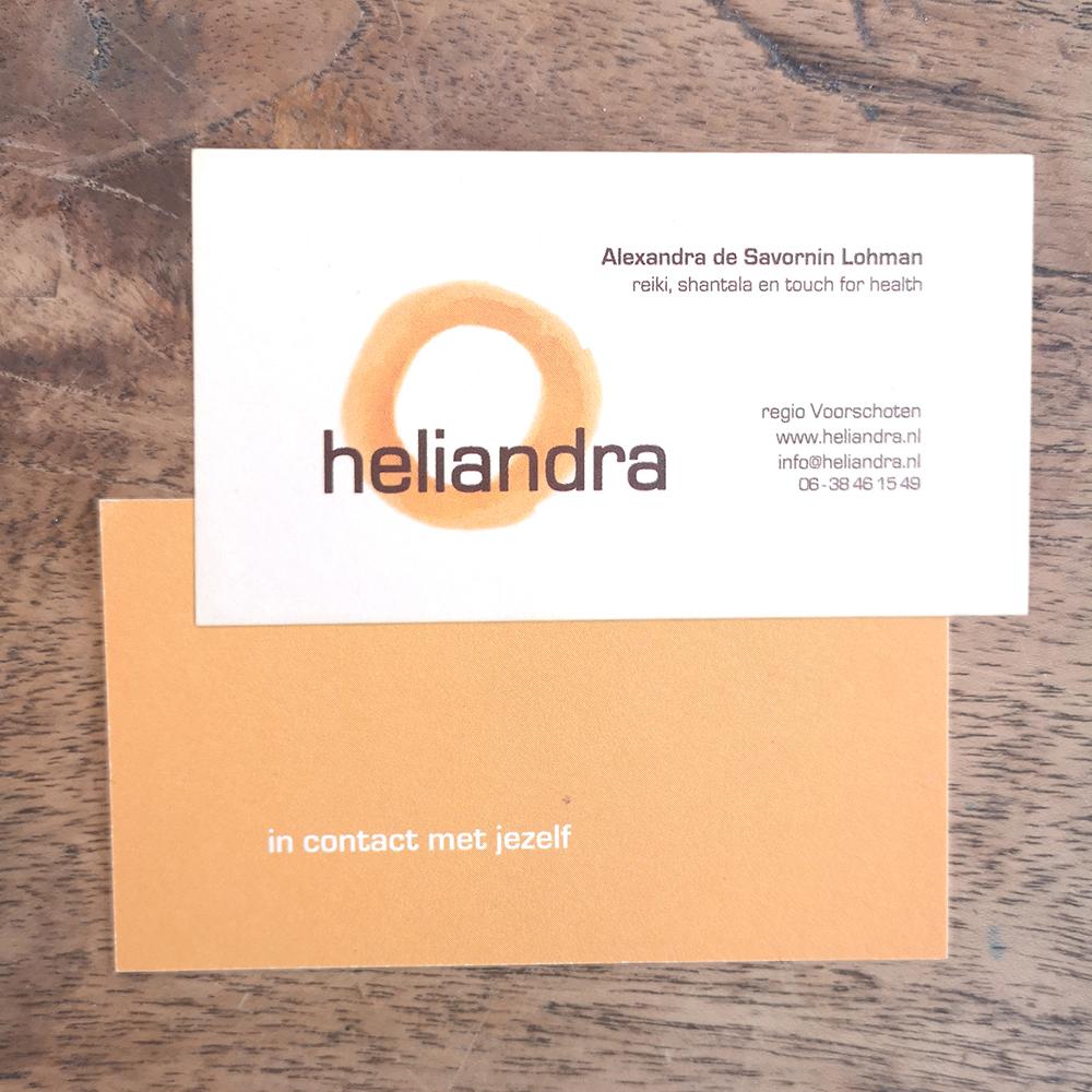 Heliandra visitekaartje