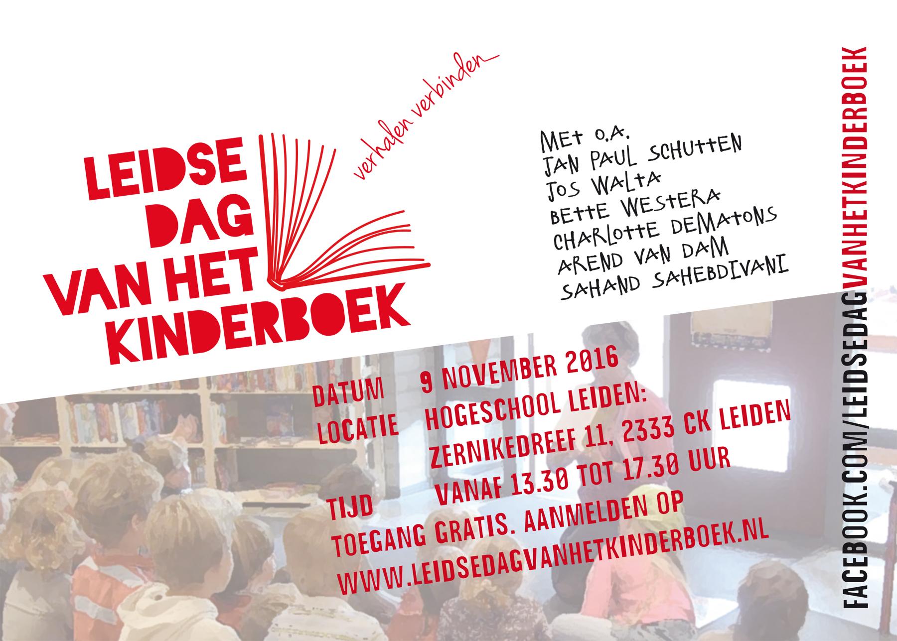Leidse Dag van het Kinderboek - flyer