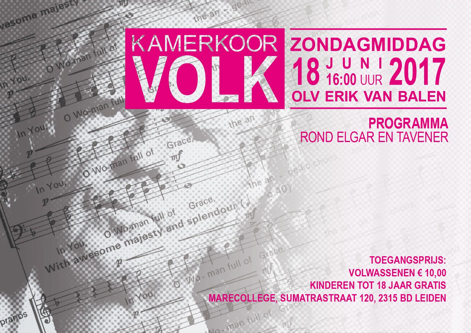 Kamerkoor Volk - flyer